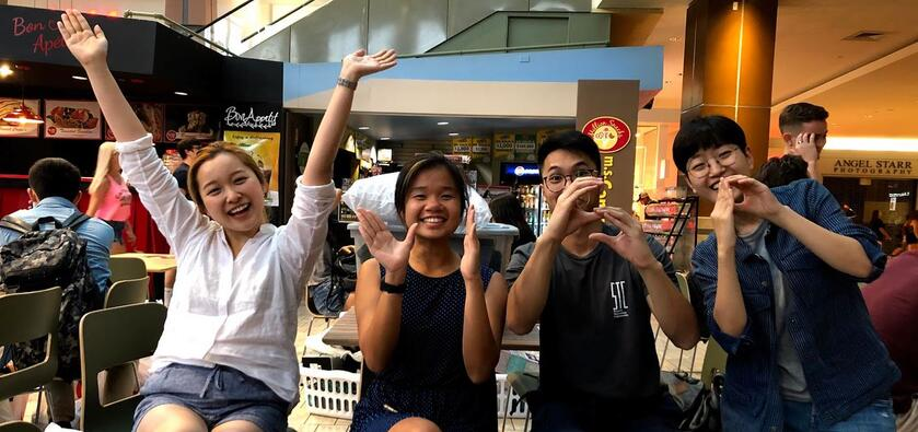 (from left) Meng Fei Shen, Shannon Phuah, Bradley Yam, and Chairin Kim